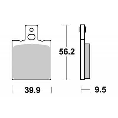 Plaquettes de frein SBS céramique 646HF