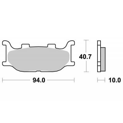 Plaquettes de frein SBS céramique 691HF