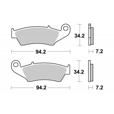 Plaquettes de frein SBS céramique 694HF