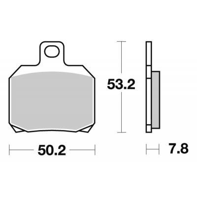 Plaquettes de frein SBS céramique 730HF
