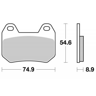 Plaquettes de frein SBS céramique 746HF