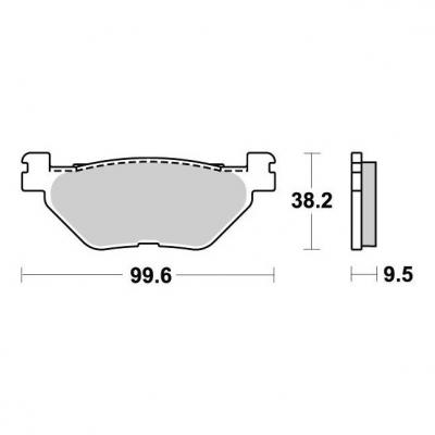 Plaquettes de frein SBS céramique 769HF