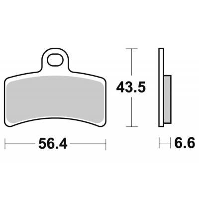 Plaquettes de frein SBS céramique 815HF