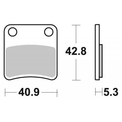 Plaquettes de frein SBS céramique 879HF