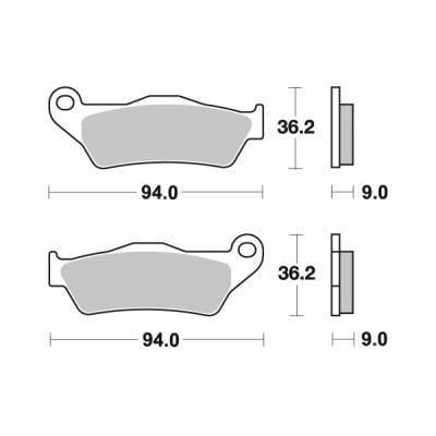 Plaquettes de frein SBS céramique 924H.HF