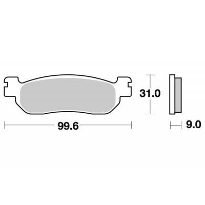 Plaquettes de frein SBS métal fritté 155MS