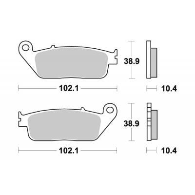 Plaquettes de frein SBS métal fritté 181MS