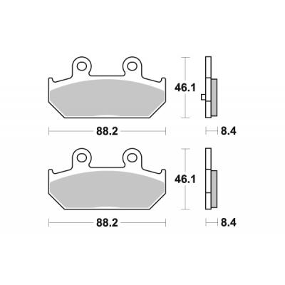 Plaquettes de frein SBS métal fritté 182MS