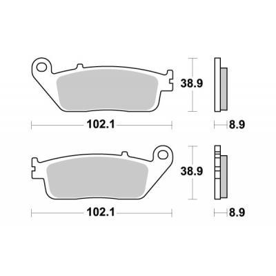 Plaquettes de frein SBS métal fritté 184MS