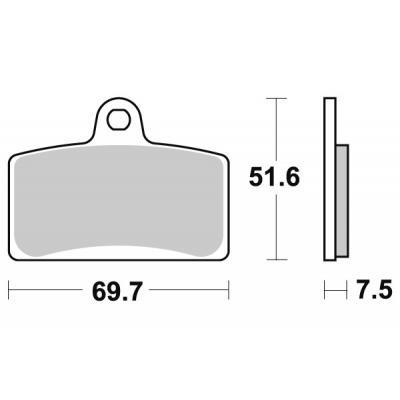Plaquettes de frein SBS métal fritté 189MS
