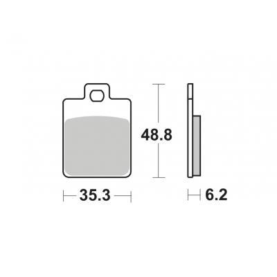 Plaquettes de frein SBS métal fritté 202MS