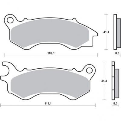 Plaquettes de frein SBS métal fritté 205MS