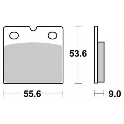Plaquettes de frein SBS métal fritté 506LS