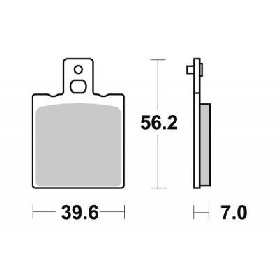 Plaquettes de frein SBS métal fritté 519LS