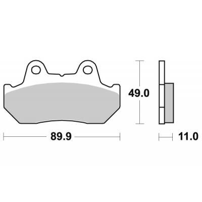 Plaquettes de frein SBS métal fritté 542HS