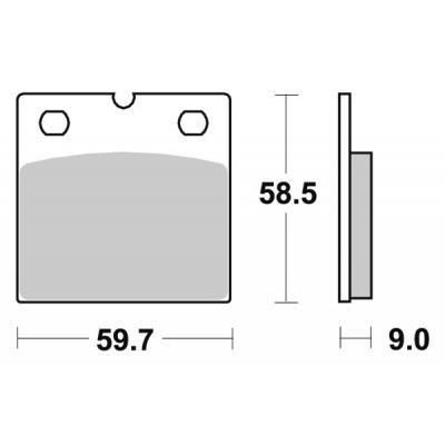 Plaquettes de frein SBS métal fritté 554HS