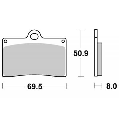 Plaquettes de frein SBS métal fritté 566RS