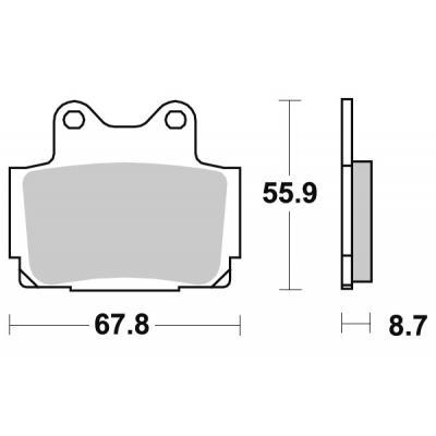 Plaquettes de frein SBS métal fritté 570LS