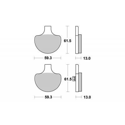 Plaquettes de frein SBS métal fritté 579H.HS