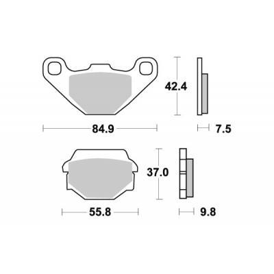 Plaquettes de frein SBS métal fritté 586LS
