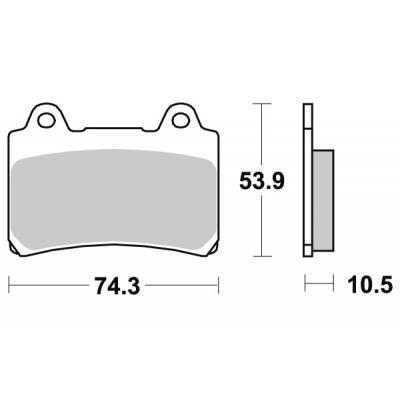 Plaquettes de frein SBS métal fritté 590HS
