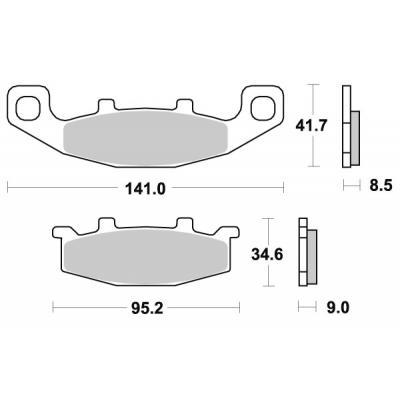 Plaquettes de frein SBS métal fritté 597LS