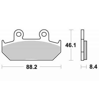 Plaquettes de frein SBS métal fritté 600HS