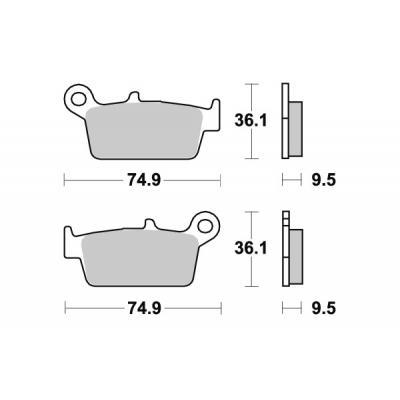 Plaquettes de frein SBS métal fritté 604RSI