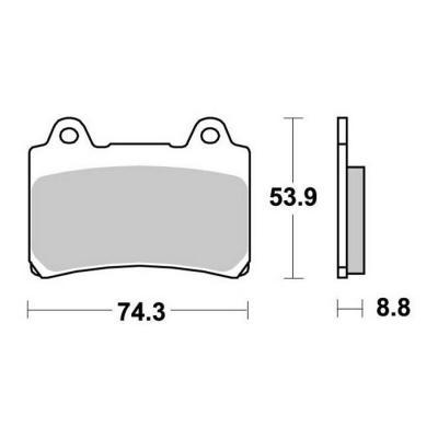 Plaquettes de frein SBS métal fritté 613HS