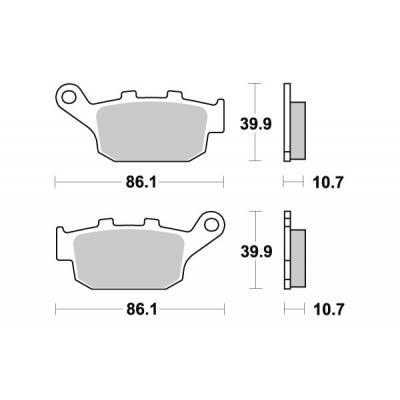 Plaquettes de frein SBS métal fritté 614LS