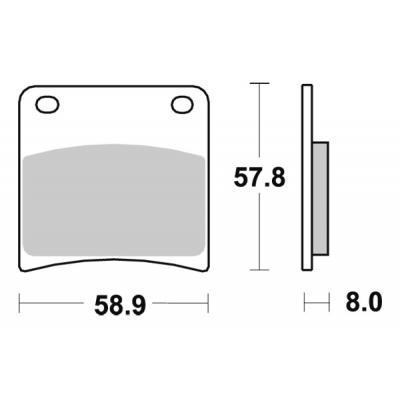 Plaquettes de frein SBS métal fritté 620HS