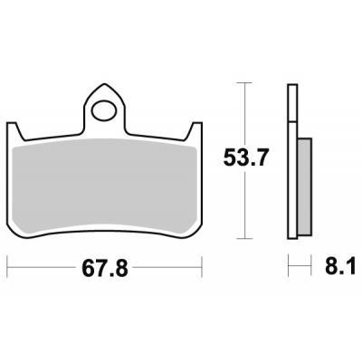 Plaquettes de frein SBS métal fritté 622HS