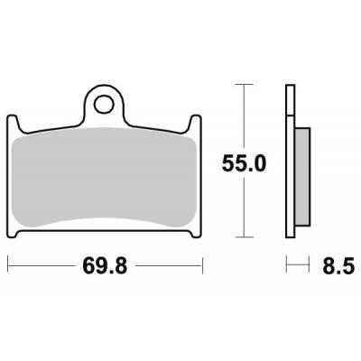 Plaquettes de frein SBS métal fritté 624RS