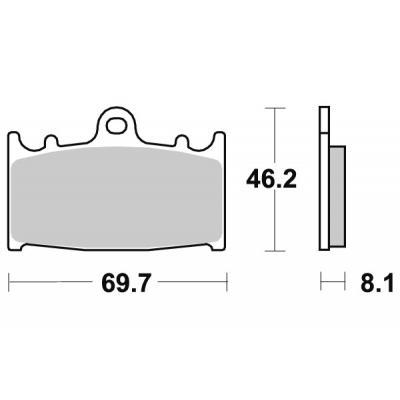 Plaquettes de frein SBS métal fritté 631RS