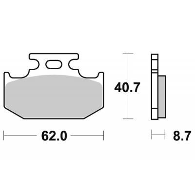 Plaquettes de frein SBS métal fritté 632SI