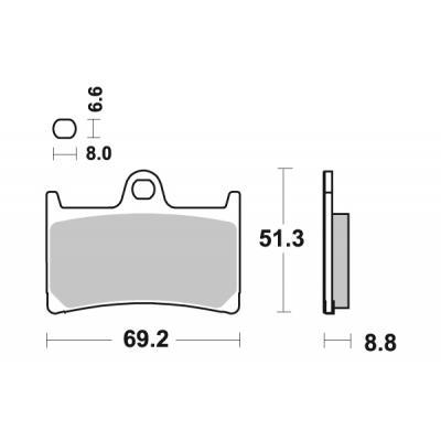 Plaquettes de frein SBS métal fritté 634RS