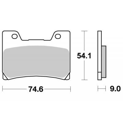 Plaquettes de frein SBS métal fritté 645HS