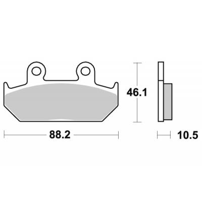 Plaquettes de frein SBS métal fritté 647HS