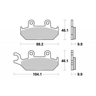 Plaquettes de frein SBS métal fritté 650HS