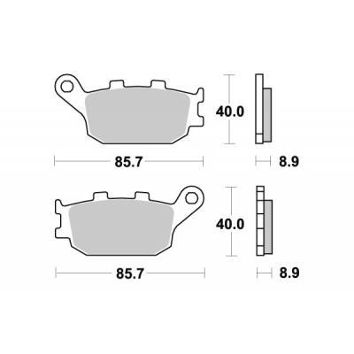 Plaquettes de frein SBS métal fritté 657LS