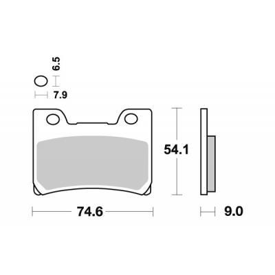 Plaquettes de frein SBS métal fritté 665HS
