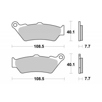 Plaquettes de frein SBS métal fritté 674HS