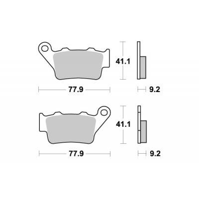 Plaquettes de frein SBS métal fritté 675LS