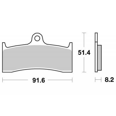 Plaquettes de frein SBS métal fritté 676HS
