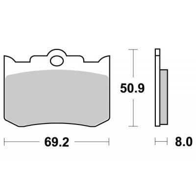 Plaquettes de frein SBS métal fritté 678H.LS