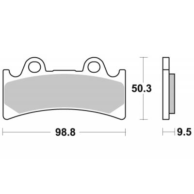Plaquettes de frein SBS métal fritté 683RS