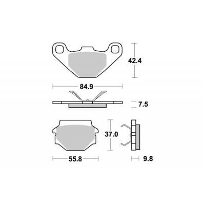 Plaquettes de frein SBS métal fritté 692SI
