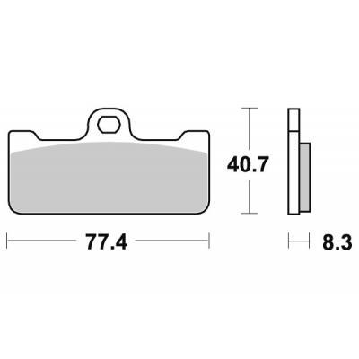 Plaquettes de frein SBS métal fritté 695RS
