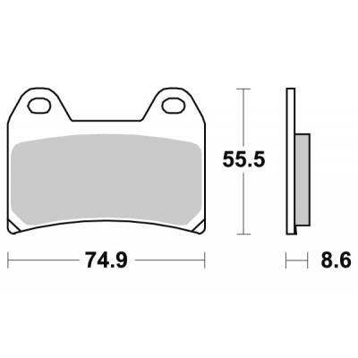 Plaquettes de frein SBS métal fritté 706RS