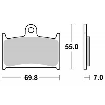 Plaquettes de frein SBS métal fritté 714HS